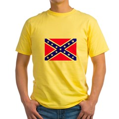 Rebel Flag Yellow T-Shirt