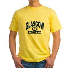 Glasgow Scotland Yellow T-Shirt