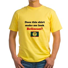 Make Me Look Belizean Yellow T-Shirt