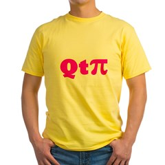 q-t-pie3 Yellow T-Shirt