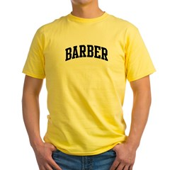 BARBER (curve-black) Yellow T-Shirt