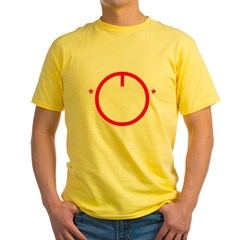 Peace2-BLK Yellow T-Shirt