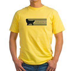 Golden Retriever (retro-blue) Yellow T-Shirt