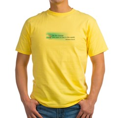 Ghandi Be The Change You Want To See In The World Yellow T-Shirt