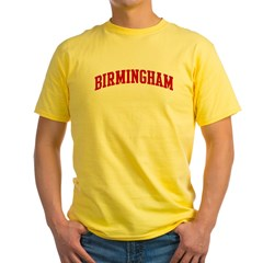 BIRMINGHAM (red) Yellow T-Shirt