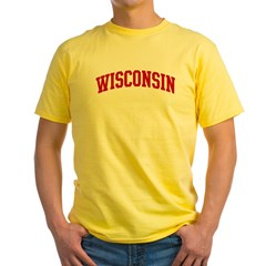 WISCONSIN (red) Yellow T-Shirt