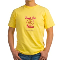 Peanut-Free Princess Yellow T-Shirt