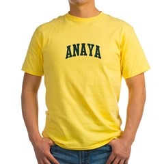 ANAYA design (blue) Yellow T-Shirt