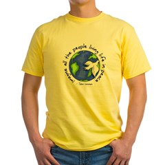 Imagine - World - Live in Peace Yellow T-Shirt