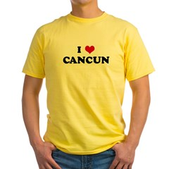 I Love CANCUN Yellow T-Shirt