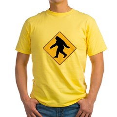 Big Foot Crossing Yellow T-Shirt