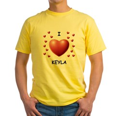 I Love Keyla - Yellow T-Shirt