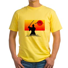 Samurai in Sun Yellow T-Shirt