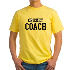 CRICKET Coach Yellow T-Shirt