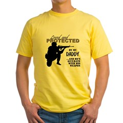 Loved Protected Daddy Yellow T-Shirt