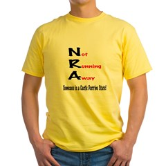 NRA - Not Running Away - Tennessee.psd Yellow T-Shirt