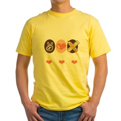 TeachPeaceLoveDkT Yellow T-Shirt