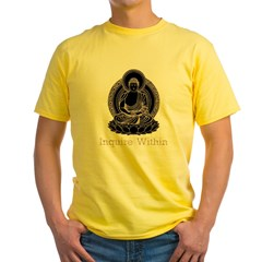 buddha5Bk Yellow T-Shirt