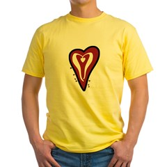 Valentine Dotty Heart Yellow T-Shirt
