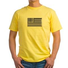 barcode flag Yellow T-Shirt