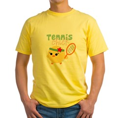 Tennis Chick Yellow T-Shirt