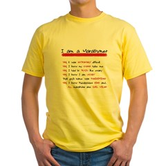 I am a Marathoner Yellow T-Shirt
