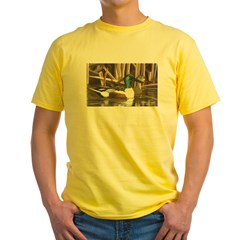 Shoveler Ducks Ash Grey Yellow T-Shirt