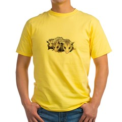 opossum Yellow T-Shirt