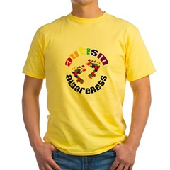 Autism Awareness Circle Yellow T-Shirt