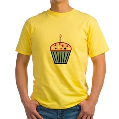 4th of July Cupcake Yellow T-Shirt