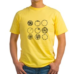 Tree Symbols Yellow T-Shirt