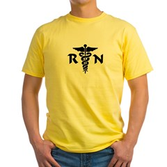 RN Medical Symbol Yellow T-Shirt
