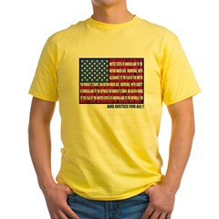 PLEDGE OF ALLEGIANCE FLAG Yellow T-Shirt