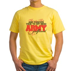 Strong&Sweet Army Girlfriend Yellow T-Shirt
