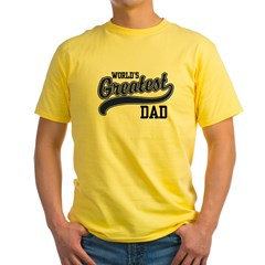 World's Greatest Dad Yellow T-Shirt