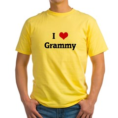 I Love Grammy Yellow T-Shirt