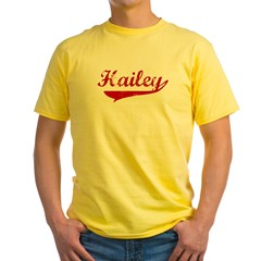Hailey (red vintage) Yellow T-Shirt
