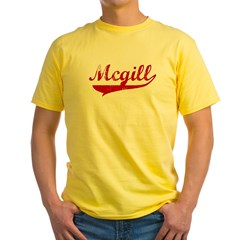 Mcgill (red vintage) Yellow T-Shirt