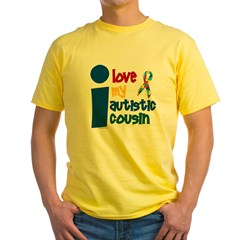 I Love My Autistic Cousin 1 Yellow T-Shirt