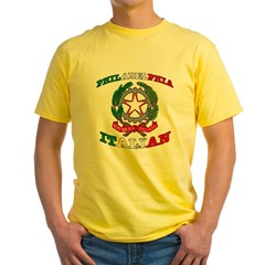 Philadelphia Italian Yellow T-Shirt