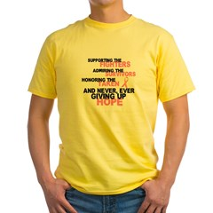Fighters Survivors Taken 3 Pink Yellow T-Shirt