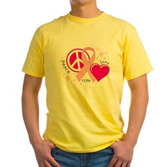 BC Peace Love Cure Yellow T-Shirt