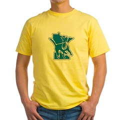 MNCLUB Alone logo Men''s Yellow T-Shirt