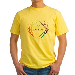 Tribal (Heart) - Light Tee Shirts Yellow T-Shirt