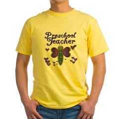 Butterfly Preschool Teacher Yellow T-Shirt