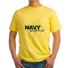 Navy Girlfriend: Sailor's LOV Yellow T-Shirt