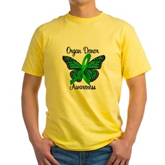 I Wear Green Gift of Life Yellow T-Shirt