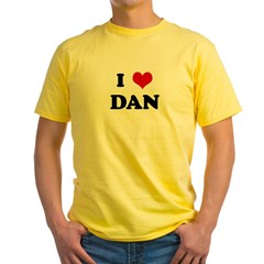 I Love DAN Yellow T-Shirt