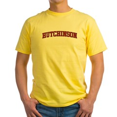 HUTCHINSON Design Yellow T-Shirt