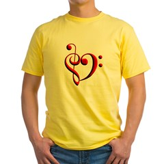Clef Hear Yellow T-Shirt